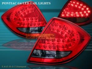 2005 2006 2007 08 PONTIAC G6 4DR LED TAIL LIGHTS LED
