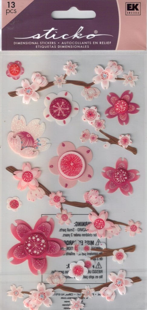 STICKO Assorted STICKERS Choice Scrapbooking FLOWERS