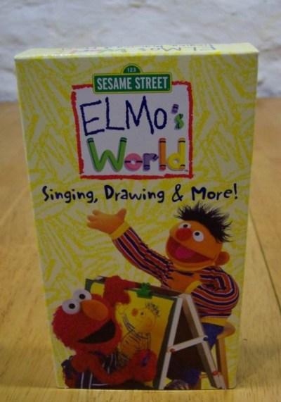 Elmo 039 s World Singing Drawing Amp More VHS Video | eBay