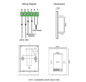Touch Screen Underfloor Heating Thermostat &Floor Probe | eBay