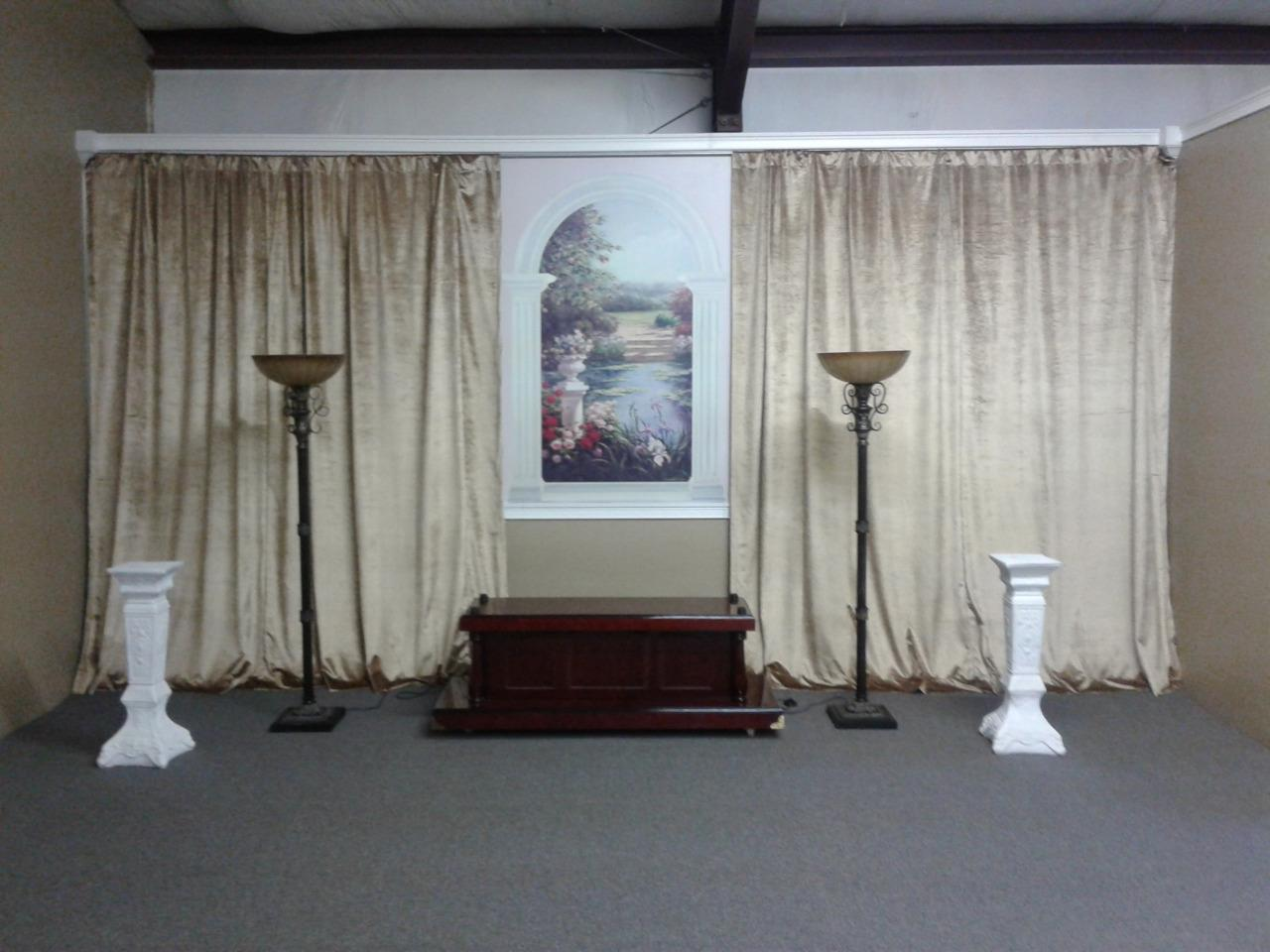 gold 144 inch h velvet curtain long
