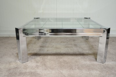 double layer low square coffee table