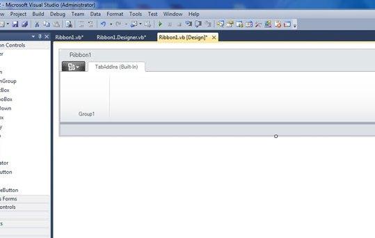 how to add Ribbon in word add-in - VSTO 2010 in C#|ribbon