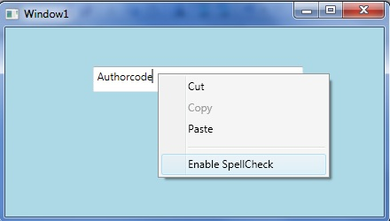 How to add Custom Context Menu with a TextBox in WPF - AuthorCode