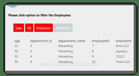 Filtering records using links