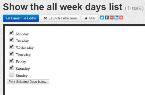 show-checklist-of-week-days