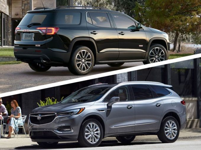 2018 Buick Enclave vs 2018 GMC Acadia  Which is Best    Autobytel com 2018 Buick Enclave vs 2018 GMC Acadia  Which is Best