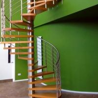 Interior Modern Design Stainless Steel Glass Spiral Staircase For | Spiral Staircase To Attic | Easy | Adding | Stairway | White | Corner