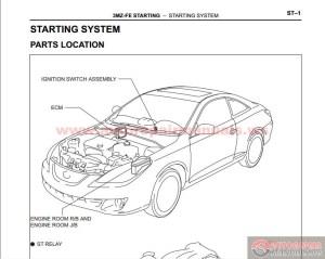 Toyota Camry Solara 20022009's Factory Repair Manual