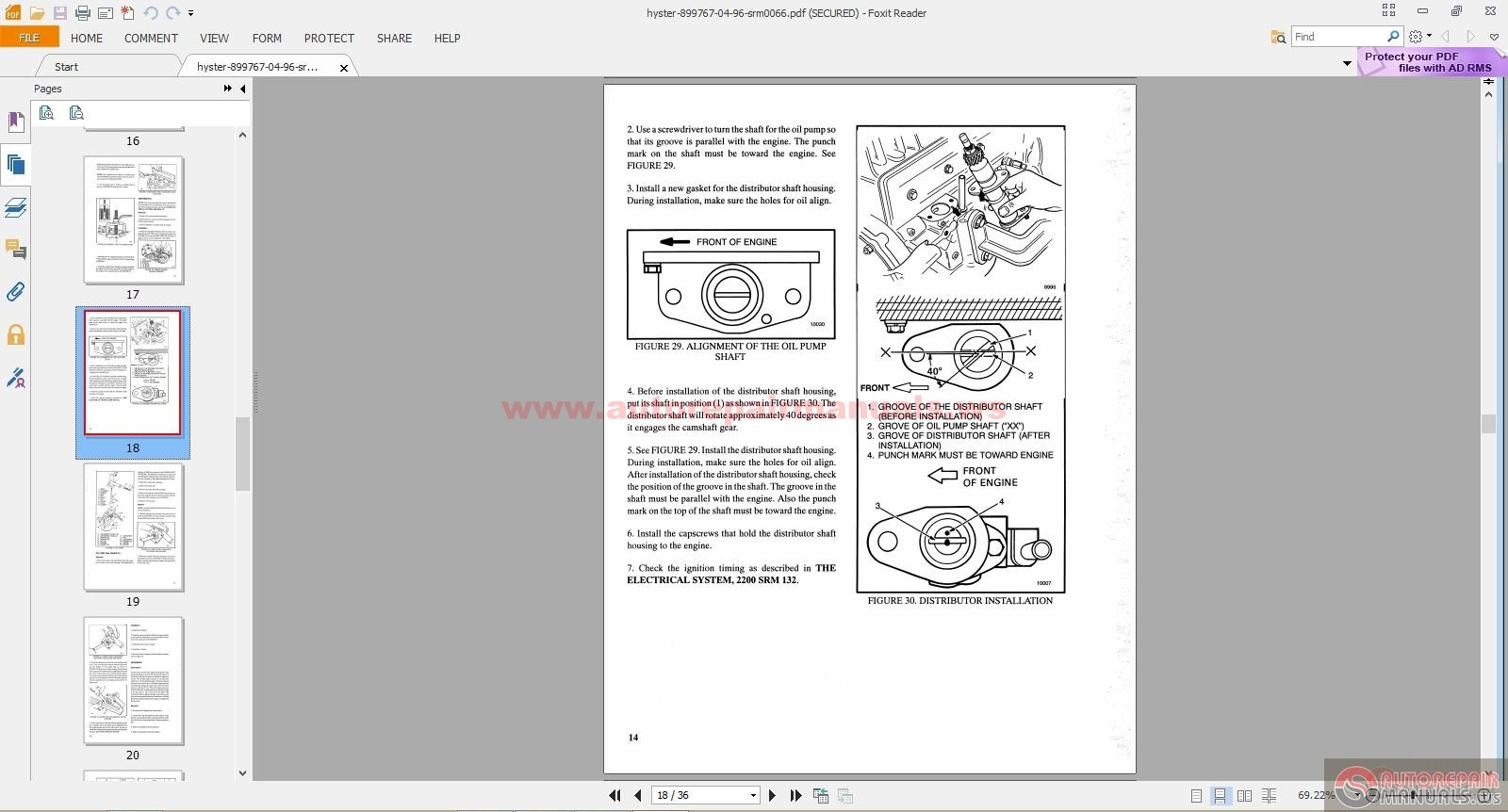 Repair And Service Manual Free Auto Manuals Page 275 Hyster 45 Forklift Wiring Diagram Https Autorepairmanualsws Threads Parts Cd620998