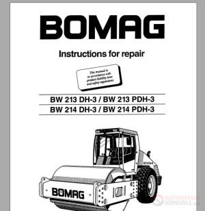 Bomag Instructions for repair BW213DH3,BW213PDH3,BW214DH