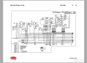 Peterbilt  PB362 Cab Wiring Schematic (SK14799) | Auto