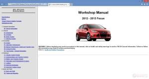 Ford Focus 2013 Workshop Repair Manual | Auto Repair