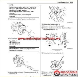 Suzuki Swift 2005 Repair Manual | Auto Repair Manual Forum