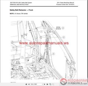 Ford Fiesta 2011 Workshop Manual & Wiring Diagrams | Auto Repair Manual Forum  Heavy Equipment
