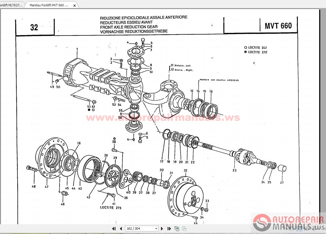Moffet Forklift Wire Harness