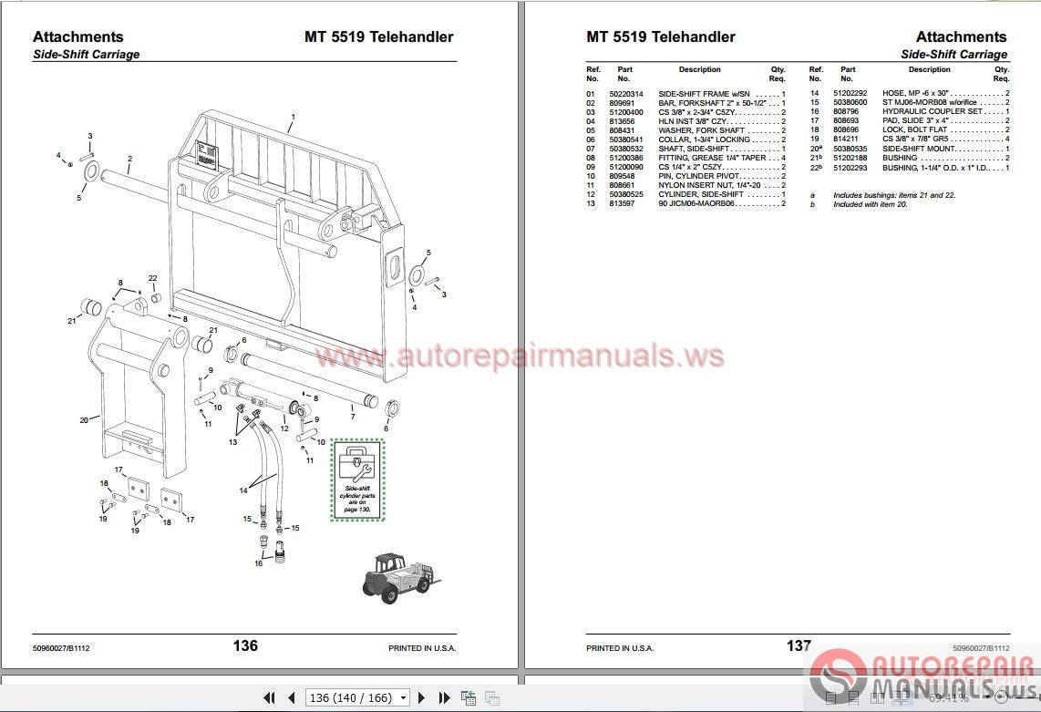Manitou Forklift Usa Full Set Model Parts Catalogue
