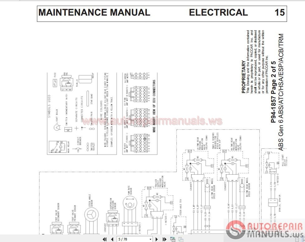 Paccar Wire Diagram - Wiring Diagrams List