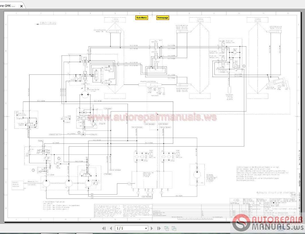 Grove Mobile Crane Gmk Hydraulic Schematic