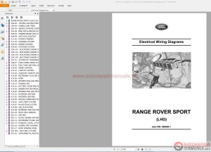 Land Rover Range Rover Sport 2014 L494 Electrical Wiring
