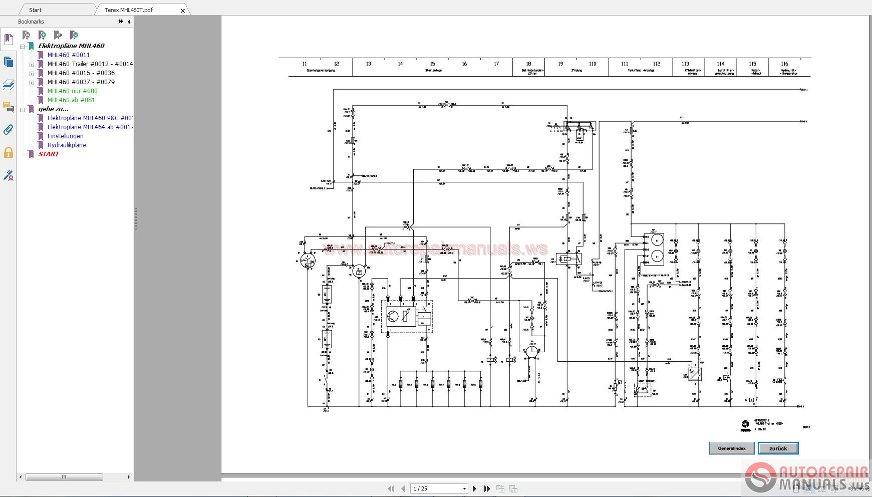 Terex Wiring Diagrams