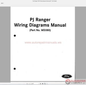 Ford Ranger 2005 Wiring Diagrams Manual | Auto Repair