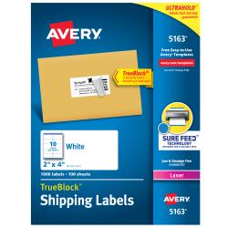 Avery 5160 Easy Peel Address Labels 1 X 2 5 8 3 000 Labels