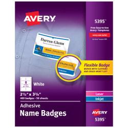 Avery Name Badge Insert Refills 400 Inserts 5390 Avery Com