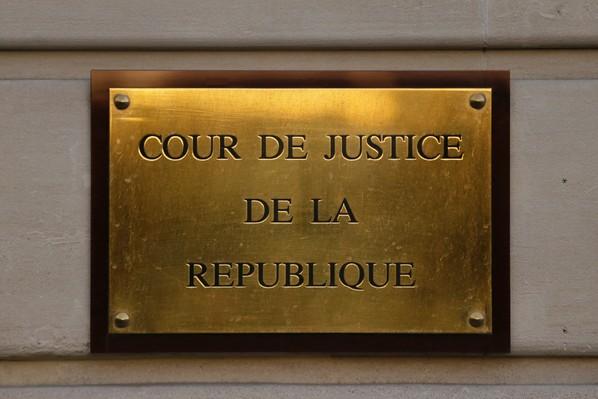 Vue en date du 19 mars 2014 de la plaque de la Cour de Justice de la République / AFP/Archives