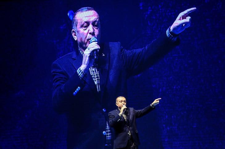 Le président turc Recep Tayyip Erdogan, le 5 mars 2017 à Istanbul / AFP