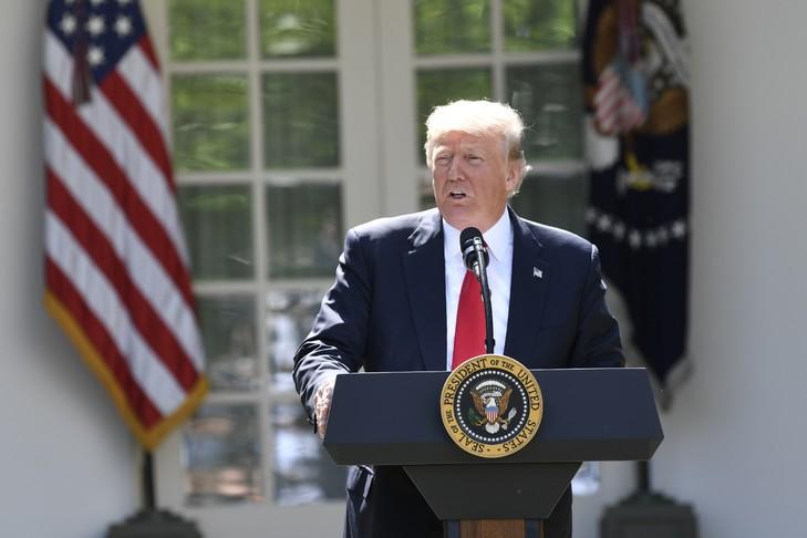 Donald Trump, le 1er juin 2017, à Washington / AFP