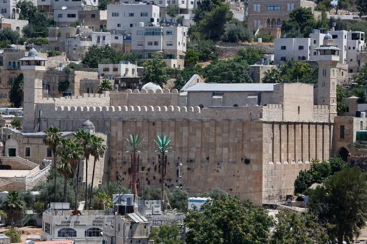 Vue générale du Tombeau des Patriarches, également appelé Mosquée d'Ibrahim, le 29 juin 2017 à Hébron / AFP/Archives