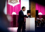 Emmanuel Macron presents his health plan at L'Elysée, Paris on September 18, 2018.