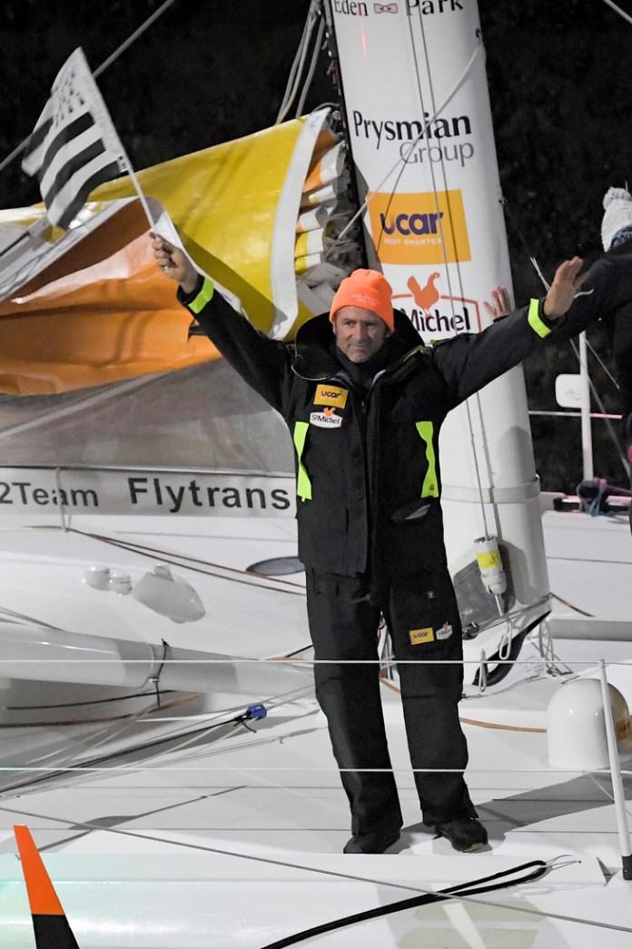 The French skipper Yann Eliès, November 3, 2018 in Saint-Malo / AFP