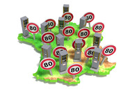 Around 3200 fixed radars are installed on the roads of France, of which 2500 p ...