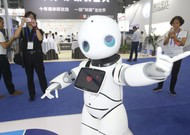 A robot on show at the China Hi-Tech Fair on November 14th 2018 in Shenzhe ...