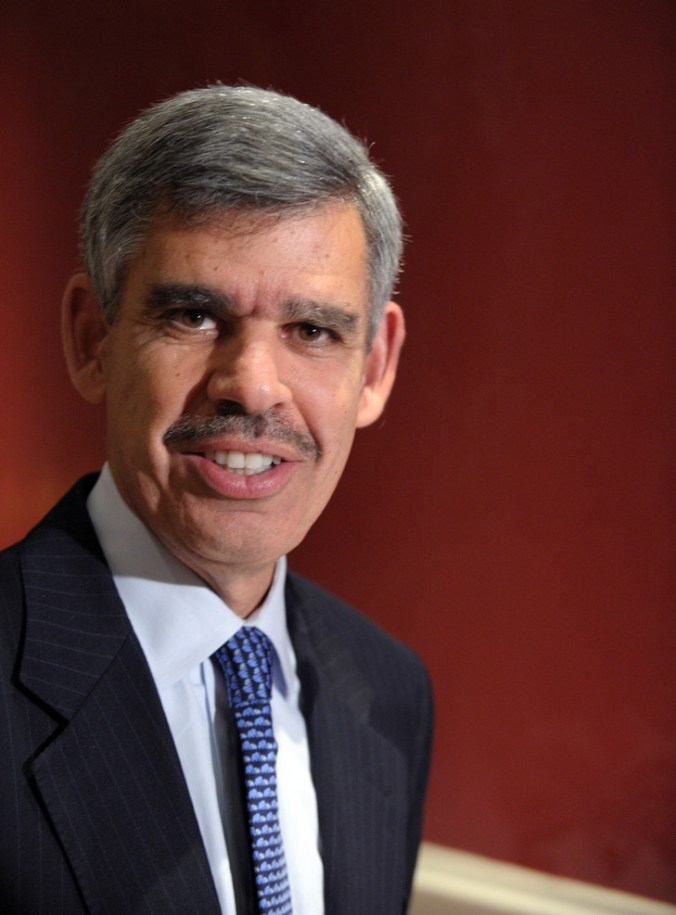Mohamed El-Erian, chief economist of the Allianz group, on November 7, 2014 in Paris / More Bank / Archives