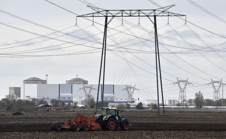 La centrale nucléaire du Blayais,entre Bordeaux et Royan.
