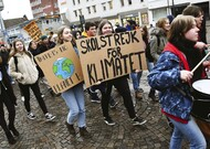 Youth demonstration in Lund, Sweden, on March 15th.