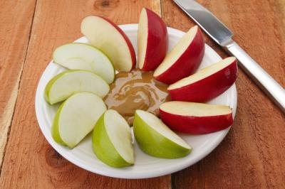Image result for apple slices and peanut butter