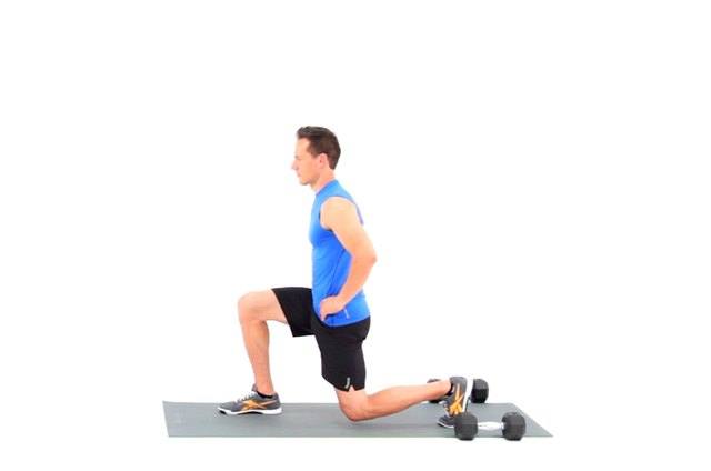 Proper form for a lunge.