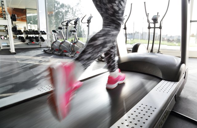 A treadmill can be made more exciting when it's part of a hurricane workout.