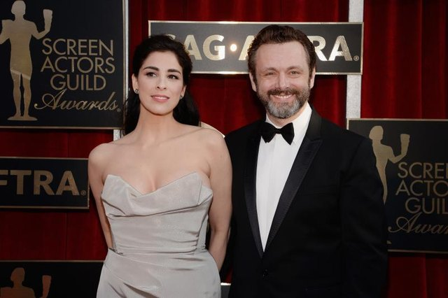 Sarah Silverman attends the 22nd Annual Screen Actors Guild Awards with actor Michael Sheen.