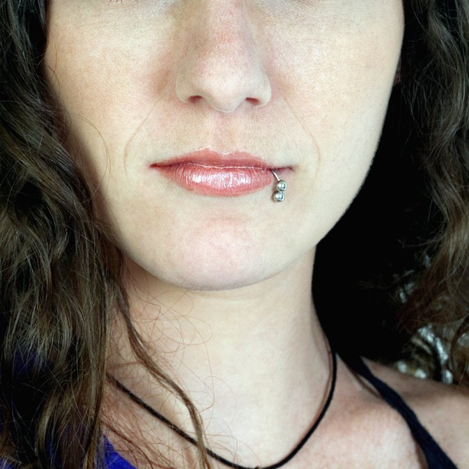 How To Put On The Bead Of A Lip Ring