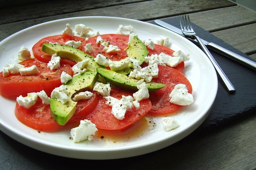 4. Heirloom Tomato, Avocado and Goat Cheese Plate