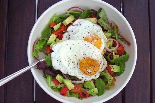 9. Mesclun Egg Salad