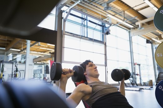 7. Replace Chest Press Machine With One-Arm Dumbbell Chest Press
