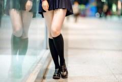 パンチラなしの女子校生の太腿 絶対領域で抜けるようになれば一人前w