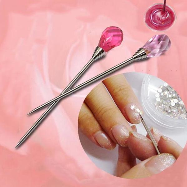 Stainless Nail Art Stirring Tool Dotting Rhinestone Picker Needle