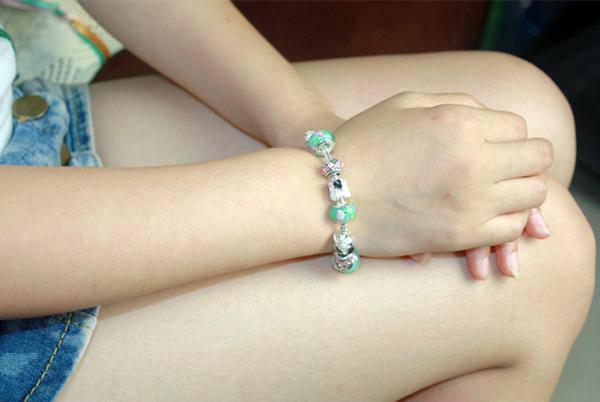 Antique Silver Flower Bracelet